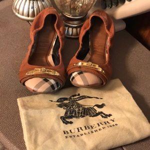 Tan Leather Drayton Twist lock  Packable Ballet